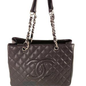 """Chanel Grand Shopping Tote Brown Caviar Leather"